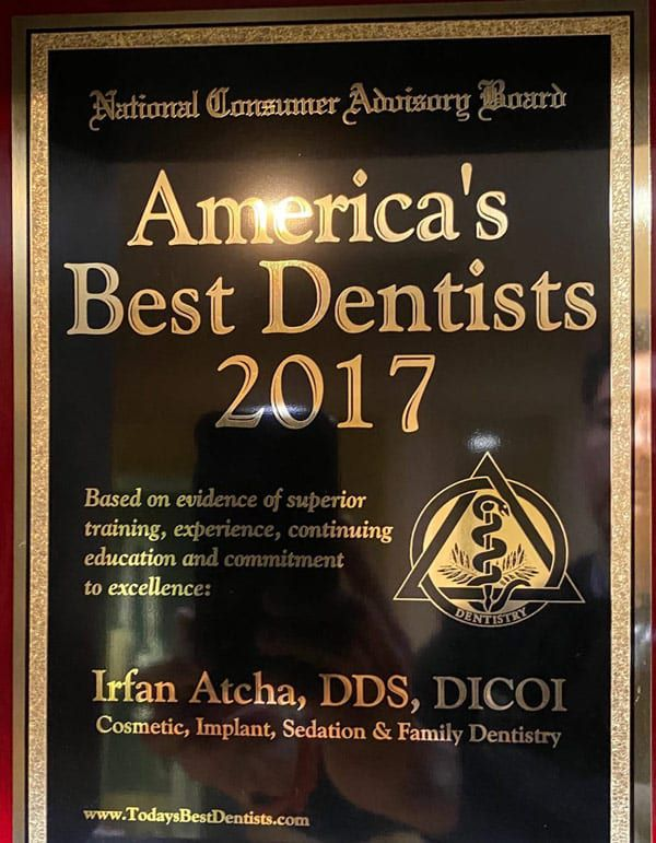 American Best dentists 2017 Dr. Irfan Atcha DDS