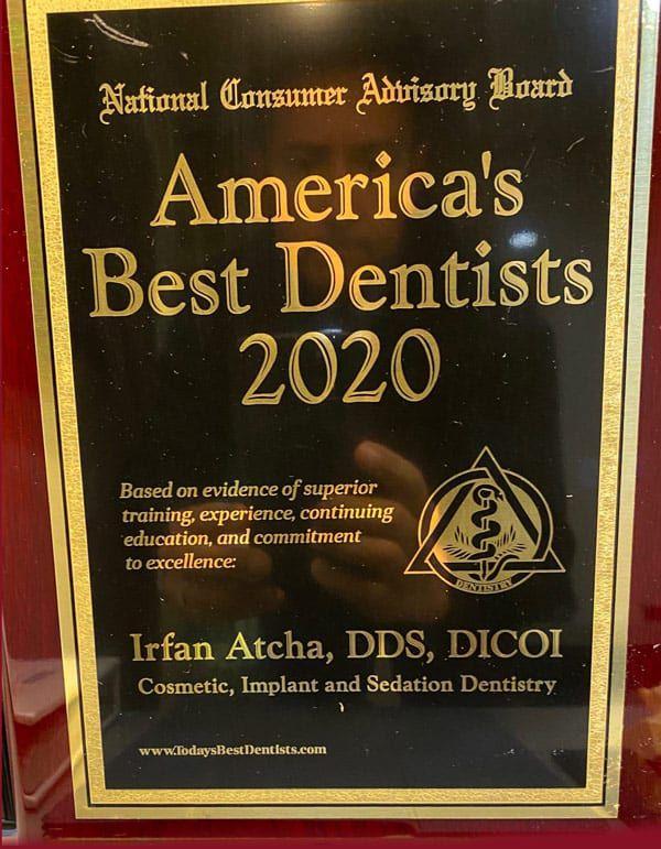 American Best dentists 2020 Dr. Irfan Atcha DDS